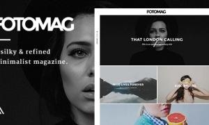 قالب وردپرس مجله وبلاگی Fotomag